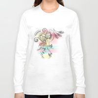 decorative Long Sleeve T-shirts featuring Decorative Floral by famenxt