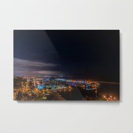 Dana Point at Night Metal Print