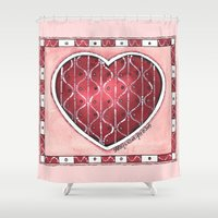 confetti Shower Curtains featuring Confetti by Shelley Ylst Art
