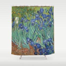Vincent van Gogh's Irises Shower Curtain