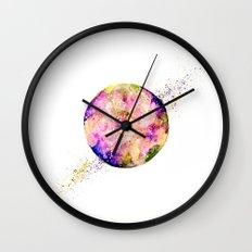 Flower planet Wall Clock