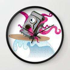 Monster Camera Surfing Wall Clock