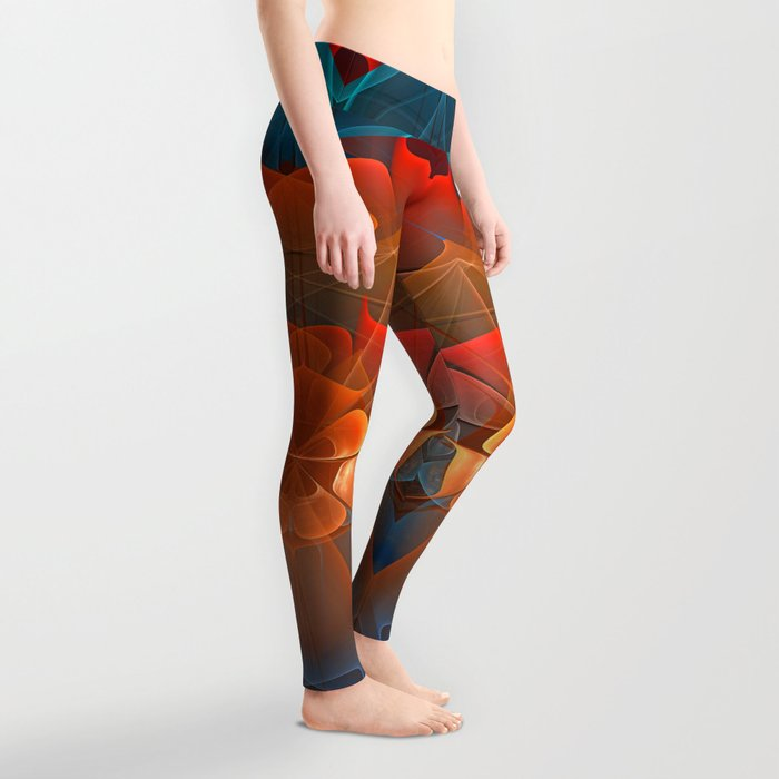 Colourful unfolding fantasy abstract Leggings