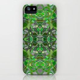 Abstract #8 - II - Dark Green Pop iPhone Case