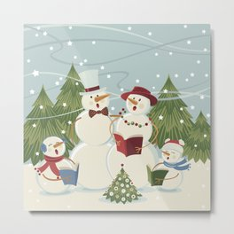 Christmas Song / Snowmen Metal Print