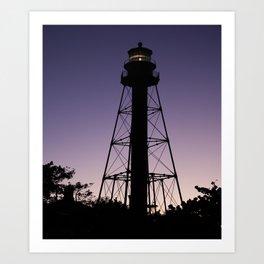 Sanibel Island Lighthouse Sunset Art Print