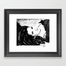 Chocolate lady Framed Art Print