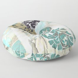 Hummingbird Batik I Floor Pillow