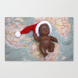 Christmas baby Canvas Print