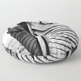 An old wreck Floor Pillow
