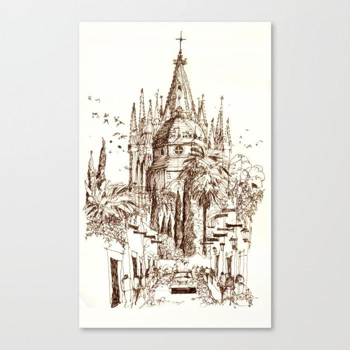 Cathedral, San Miguel de Allende Canvas Print