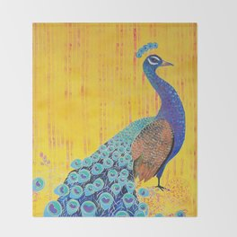 Peacock - Brave Throw Blanket