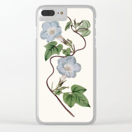 Ivy-Leaved Morning Glory Clear iPhone Case