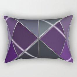 Mosaic tiled glass with a laser show Rectangular Pillow