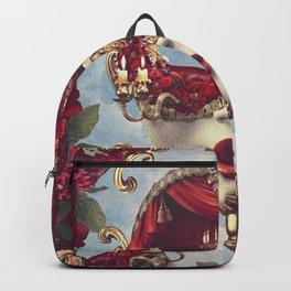 Floral Decadence - Red & Gold Venetian Mask Backpack