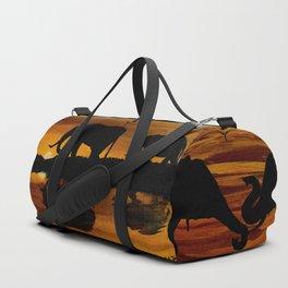 Elephant Sunset Duffle Bag