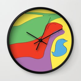 Birds from the past Wall Clock