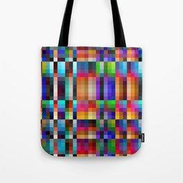 """Colorful Neon Geometric """"Nareni"""" Tote Bag"""