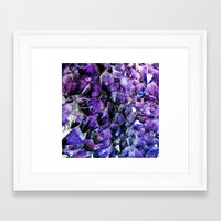 geode Framed Art Prints featuring Amethyst Geode by The Wellington Boot