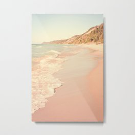 Her Mind Wandered Back and Forth With the Waves Metal Print