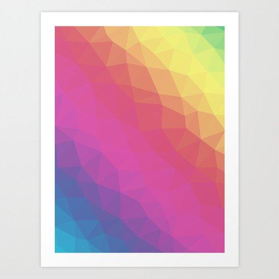 Spectrum Tris Art Print