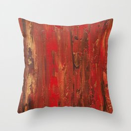 Tree Bark, Abstract Acrylic Throw Pillow
