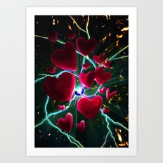 Hearts are meant to break. But there's always more hearts. Art Print