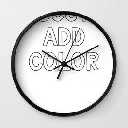 Color Run Just Add Color Fun Run Color Race Wall Clock