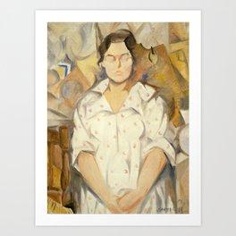 Rafael Barradas - Portrait of Pilar, 1919 Art Print