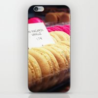 macaron iPhone & iPod Skins featuring Macaron by Emily Werboff