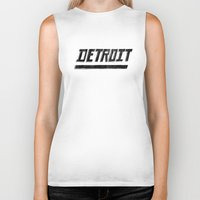 detroit Biker Tanks featuring Detroit by Matt Edward