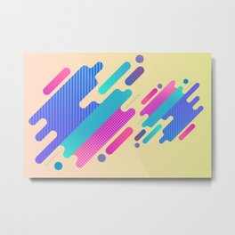 Gradients and bright patterns Metal Print