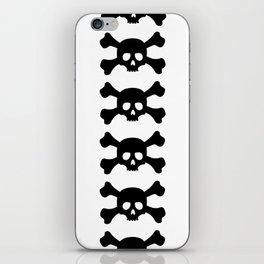 Simple Black Skull and Crossbones iPhone Skin
