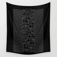kim sy ok Wall Tapestries featuring Furr Division Cats by Tobe Fonseca