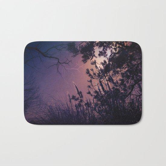 Moonlight Sonata (Tree and Reed Plant Silhouette) Bath Mat