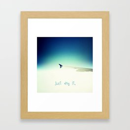 Just wing it.  Framed Art Print