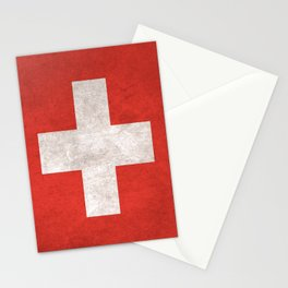 Switzerland Flag (Vintage / Distressed) Stationery Cards