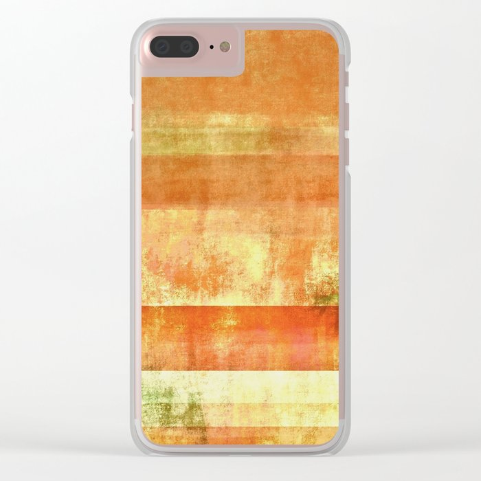 Orange abstract Clear iPhone Case
