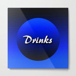 Grocery drinks Metal Print