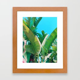 Pop Art Banana Leaf Framed Art Print