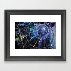 Lights. Framed Art Print