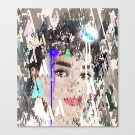 Audrey Type Abstract Art Canvas Print
