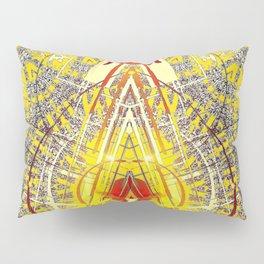 Bright Yellow Pedistal with Rubies Pillow Sham
