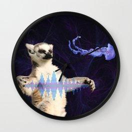 Music Waves Wall Clock