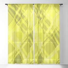 Swirling yellow ribbons with a pattern of light graceful stripes. Sheer Curtain