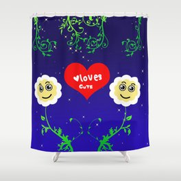 Smiling Daisies Shower Curtain