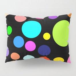 Circles on Black Background Pillow Sham