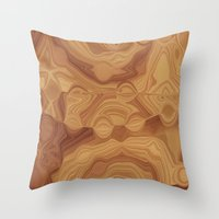 chocolate Throw Pillows featuring Chocolate by Kimberly McGuiness