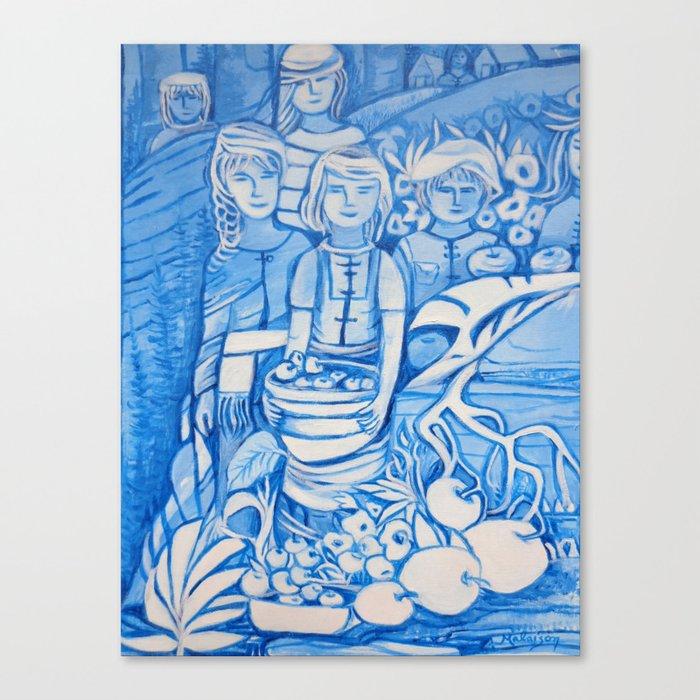 Blue window #4 Canvas Print