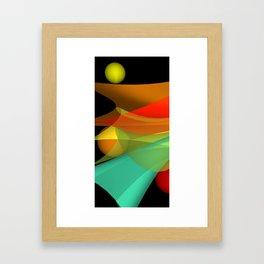 floating colors -a- Framed Art Print